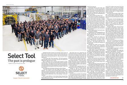 Select Tool article in October Issue of W.E. Manufacture Magazine Featured